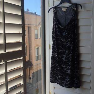 Michael Kors black and gray animal print dress